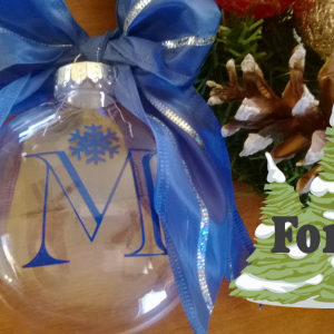 Monogrammed Christmas Ornaments HOT..